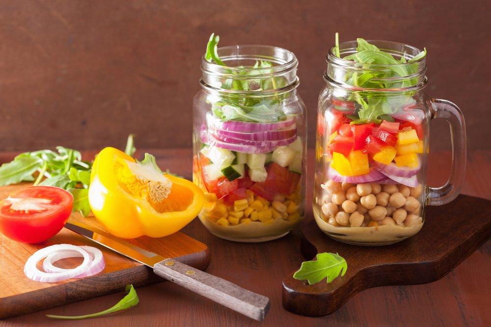 Ditch Wilty Greens With Mason Jar Salads