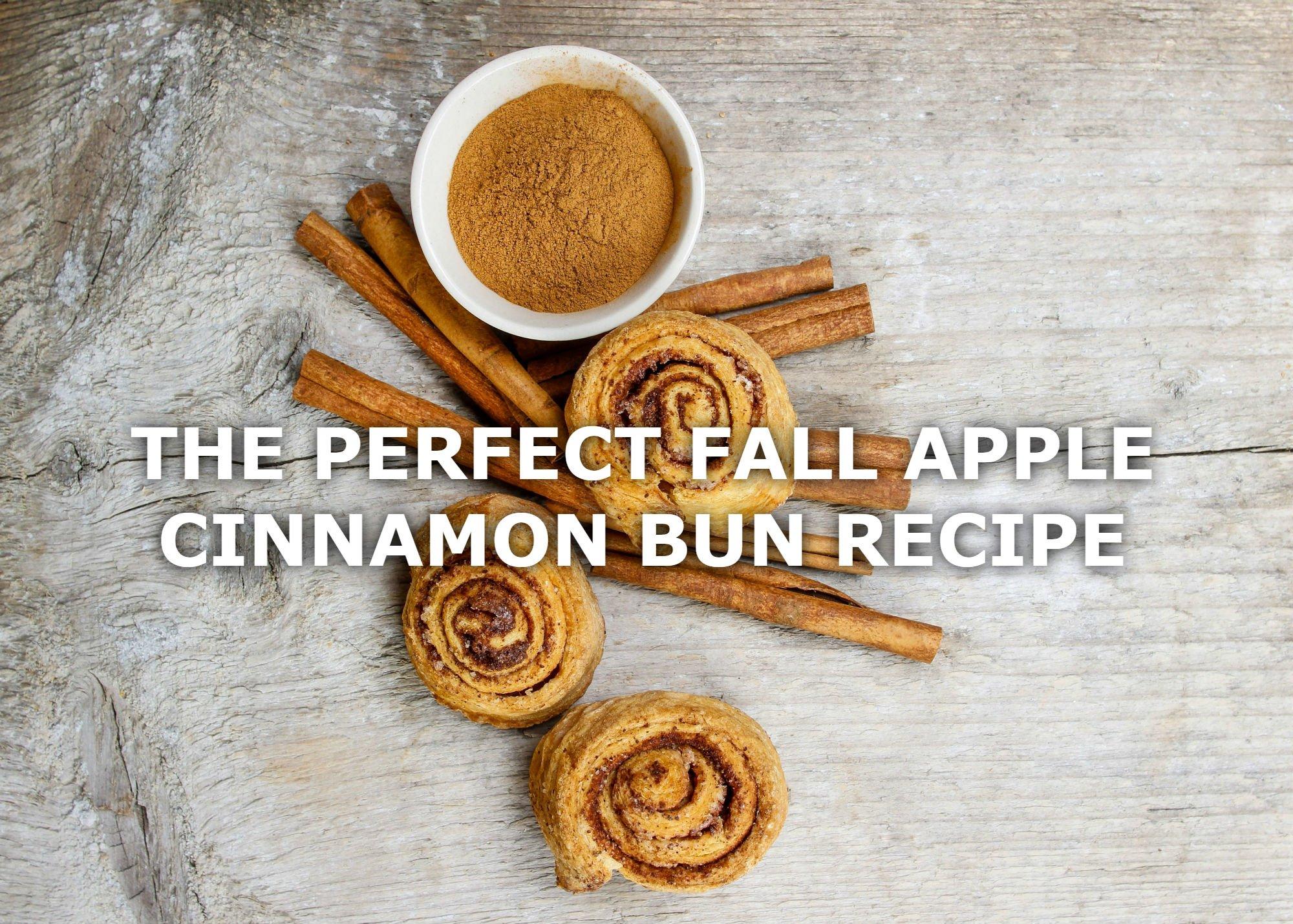THE PERFECT FALL APPLE CINNAMON BUN RECIPE