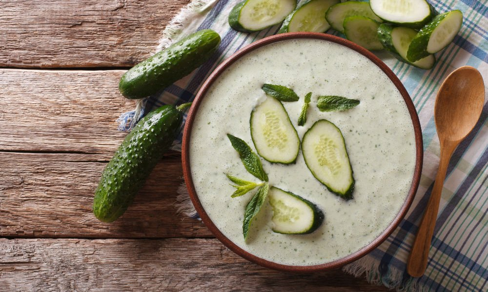 CHILLED CUCUMBER YOGURT SOUP TO STAY COOL THIS SUMMER