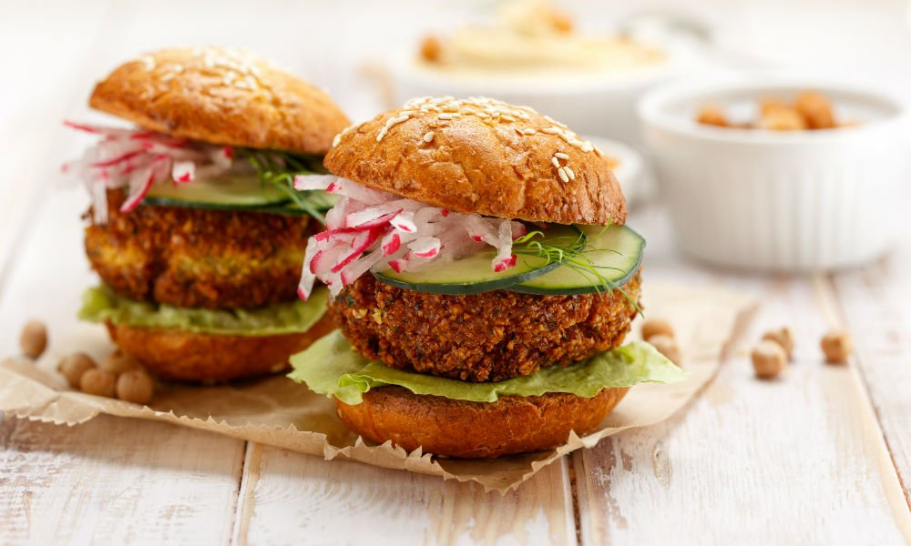 THESE 30 MINUTE SWEET POTATO FALAFEL BURGERS ARE ALL KINDS OF WONDERFUL