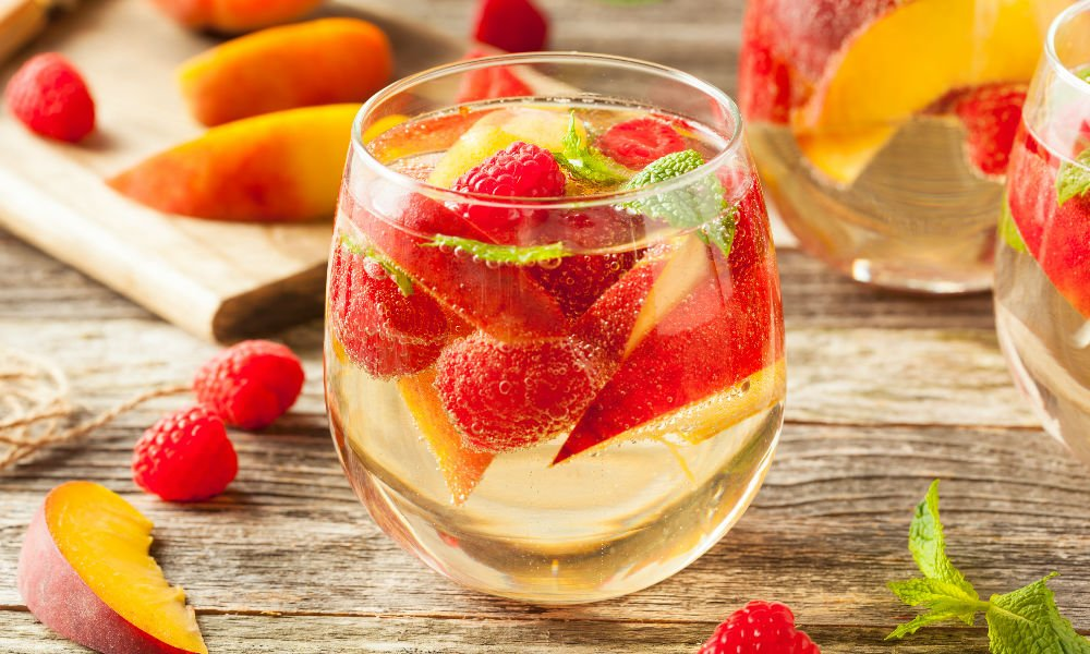 THIS WHITE TEA SANGRIA IS THE PERFECT SUMMER SIP