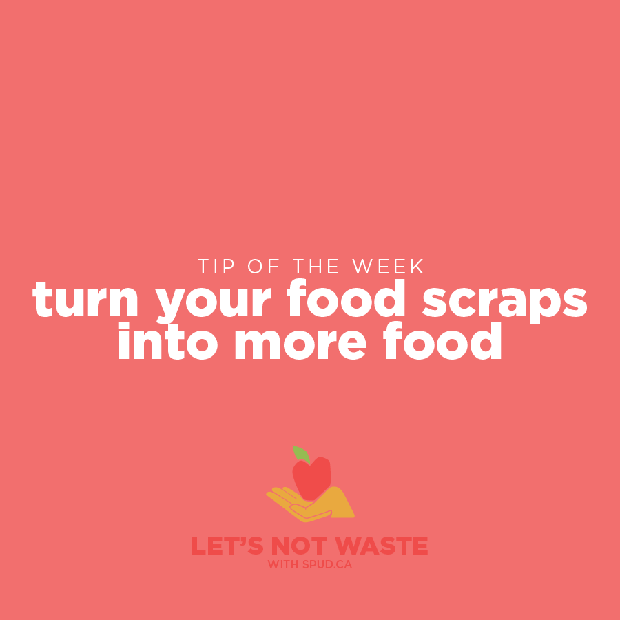 #LETSNOTWASTECHALLENGE TIP OF THE WEEK: TURN YOUR FOOD SCRAPS INTO MORE FOOD!