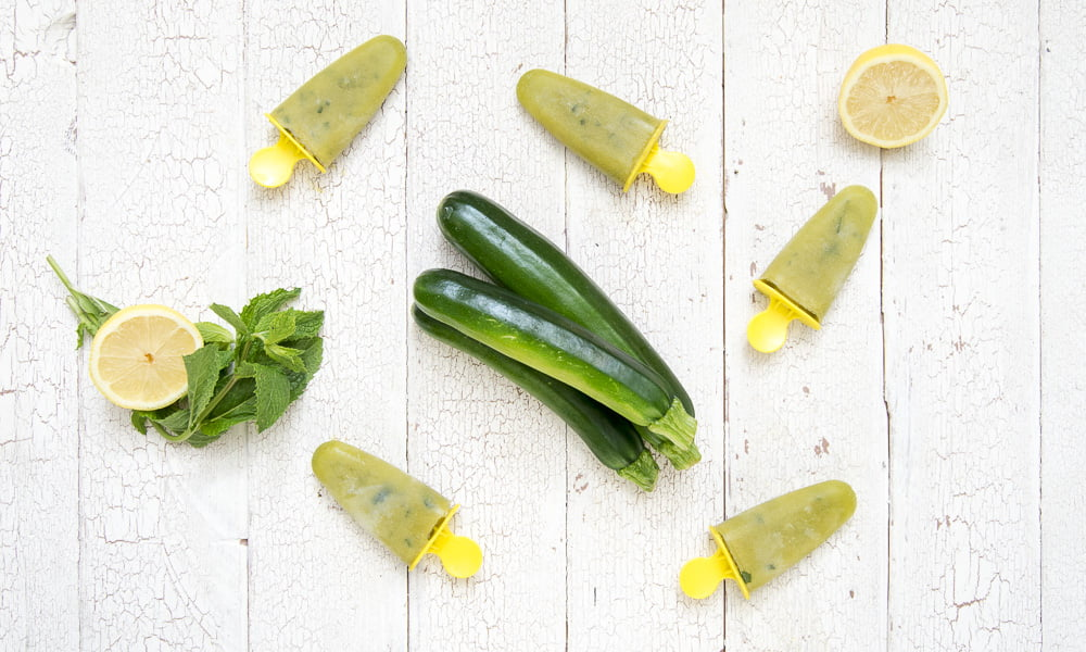 KEEP COOL WITH SUGAR-FREE ZUCCHINI MINT LEMONADE ICE POPS