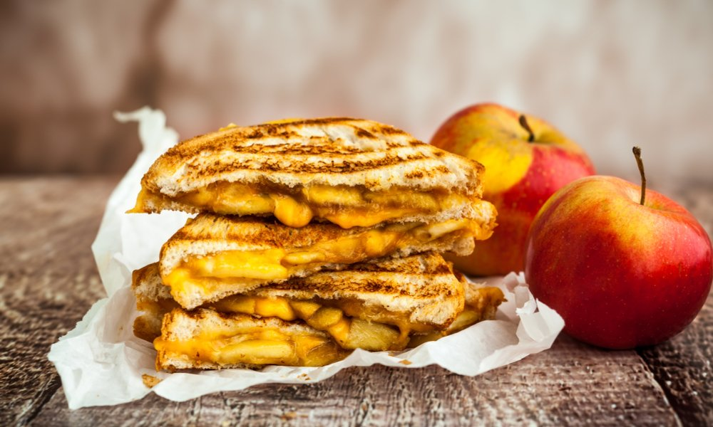 APPLE GRILLED CHEESE MAKES A GOOD THING EVEN BETTER
