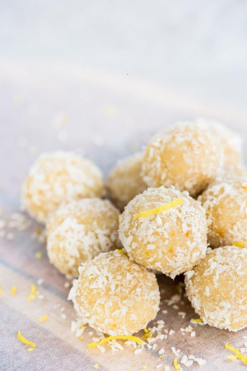 Lemon Coconut Ball Recipe #vegan #glutenfree #fatbomb | SPUD.ca