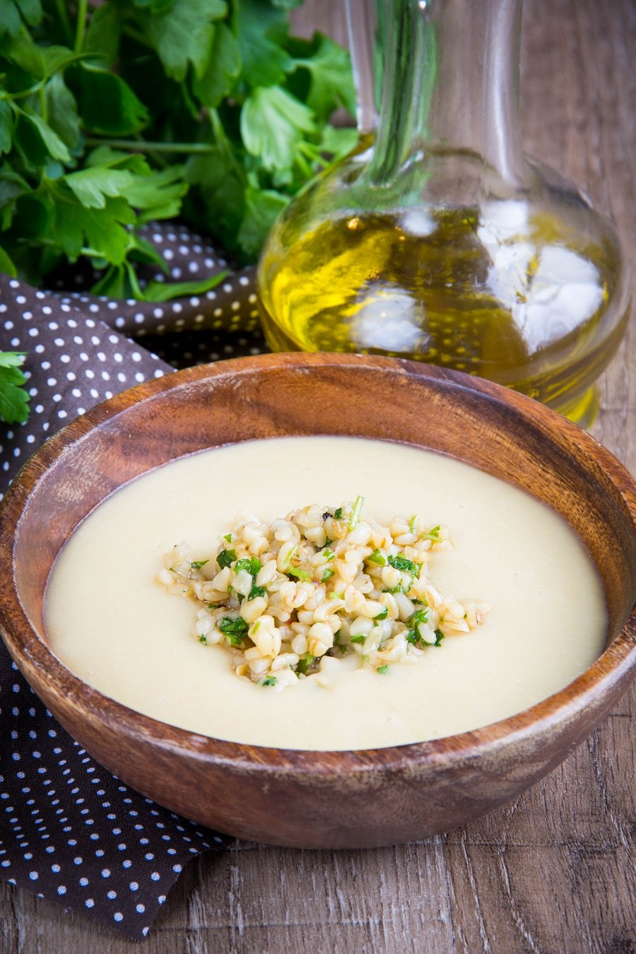 Creamy and delicious Mushroom Asparagus Soup #Vegan #healthyfood #recipe