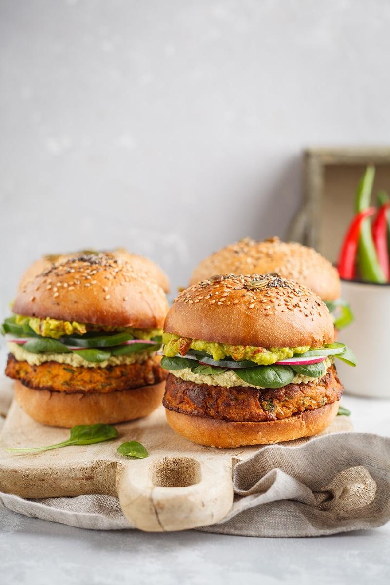 5 Homemade Veggie Burger Recipes #vegan