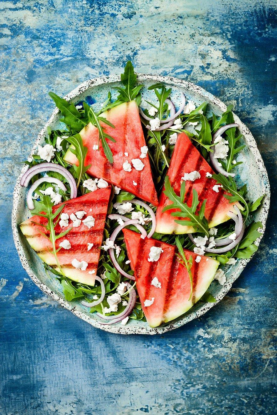 Easy + Refreshing Grilled Watermelon Arugula Salad