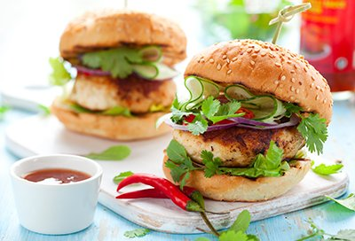 Feta and Turkey Burgers
