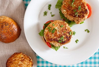 Toasted Sesame Tuna Burgers