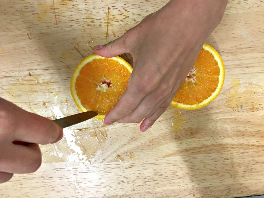 DIY orange candles