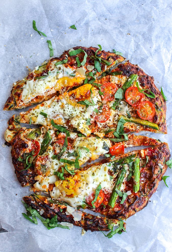 healthy vegetables zucchini pizza