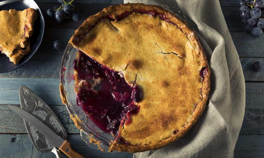 Coronation Grape Pie