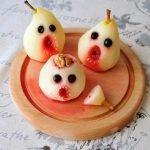 Spooky poached pears Halloween dessert