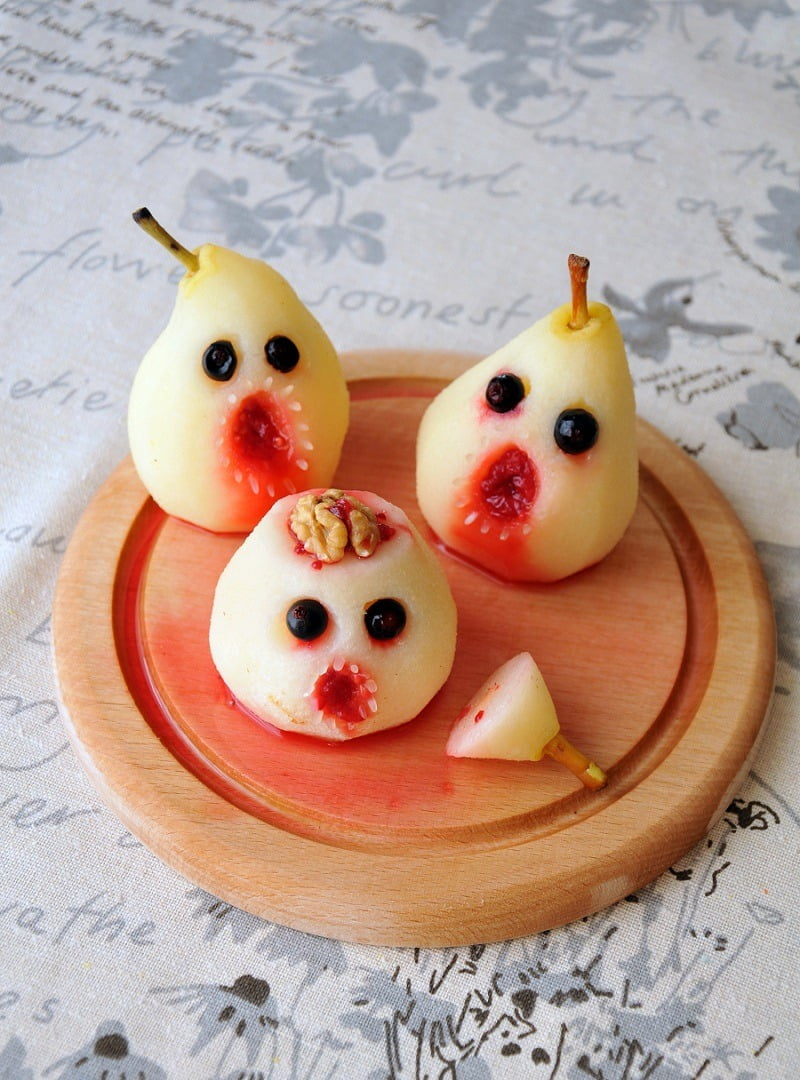 Spooky Poached Pears are perfect for Halloween!