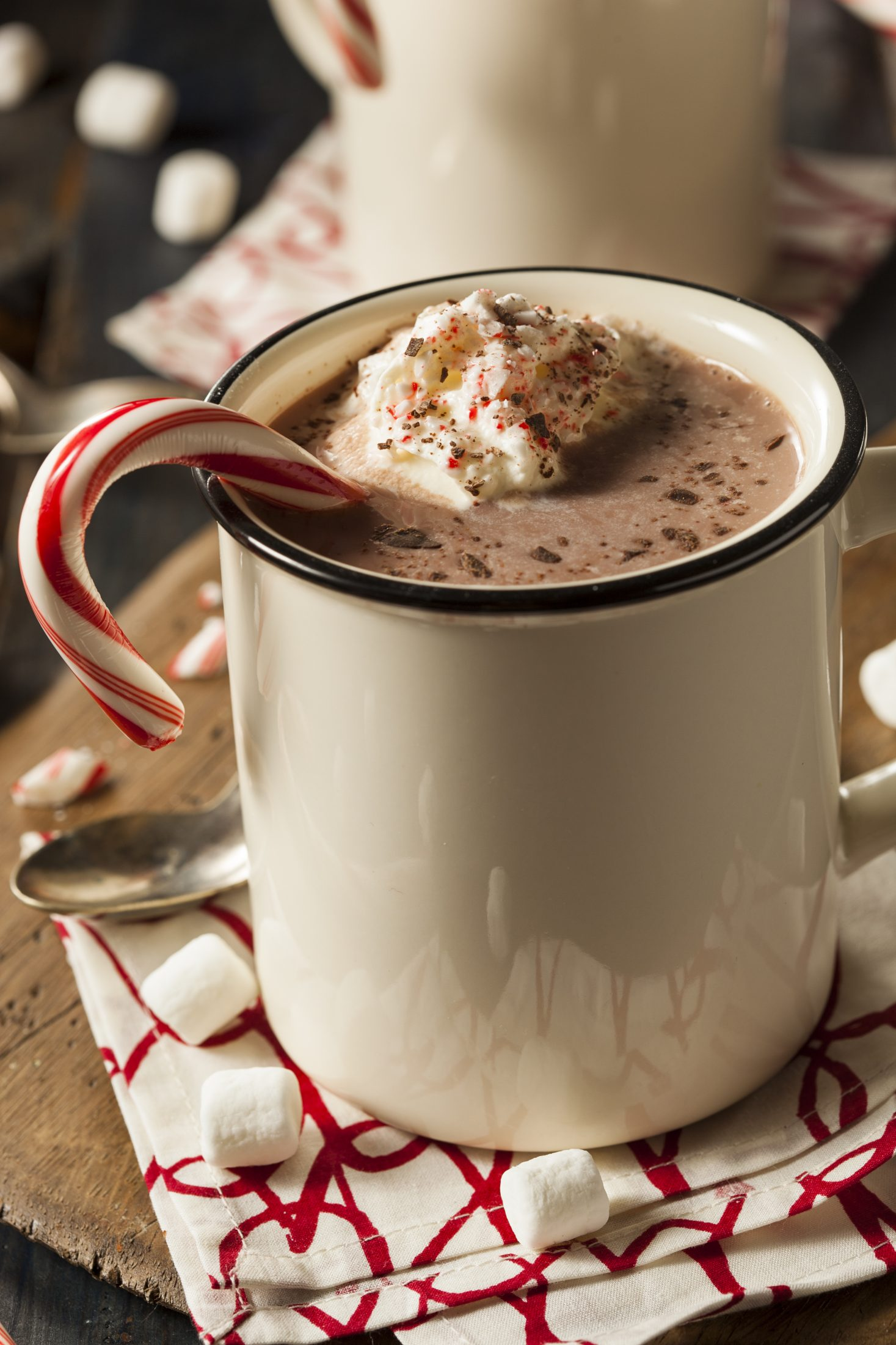 minty vegan hot chocolate