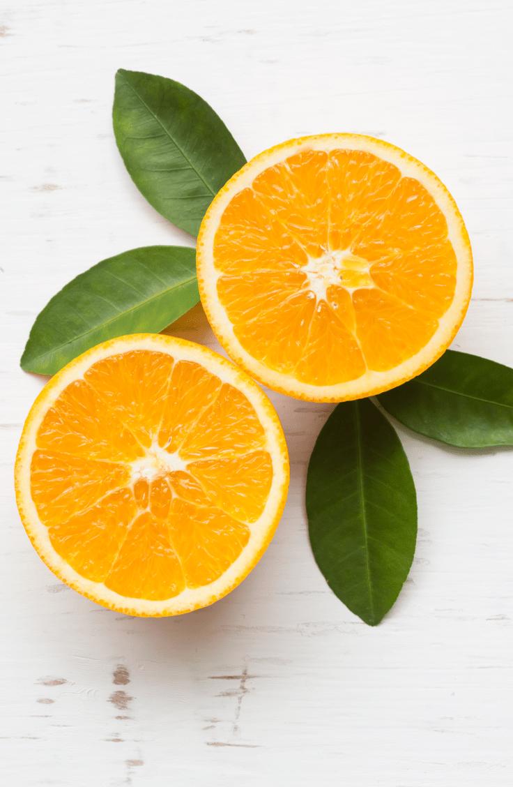 navel orange slices