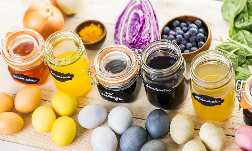 How To Dye Your Easter Eggs Naturally Using Food From Your Kitchen Spud Ca
