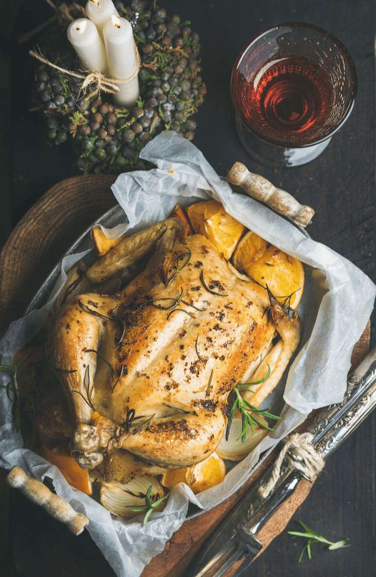 perfectly roasted feta brined chicken