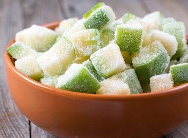 Frozen Zucchini In Bowl