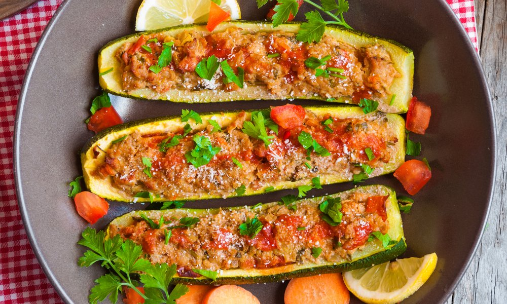 Jackfruit Stuffed Zucchini Recipe From Our Resident Vegan