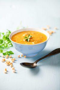 comforting vegan split pea soup