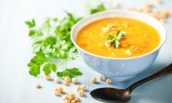 Vegan Split Pea Soup With Garnish