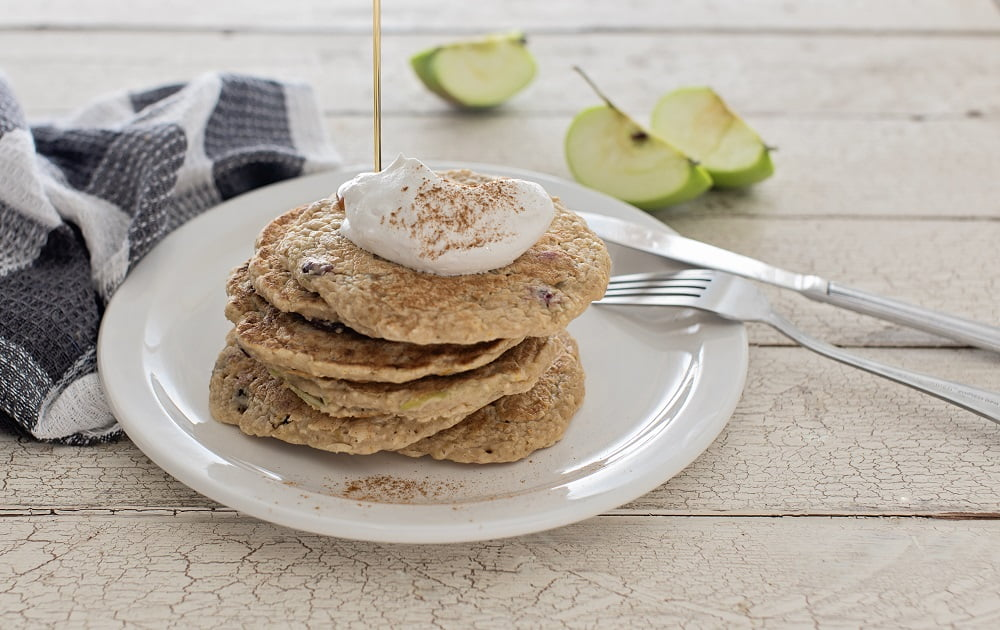 holiday oat pancakes apples