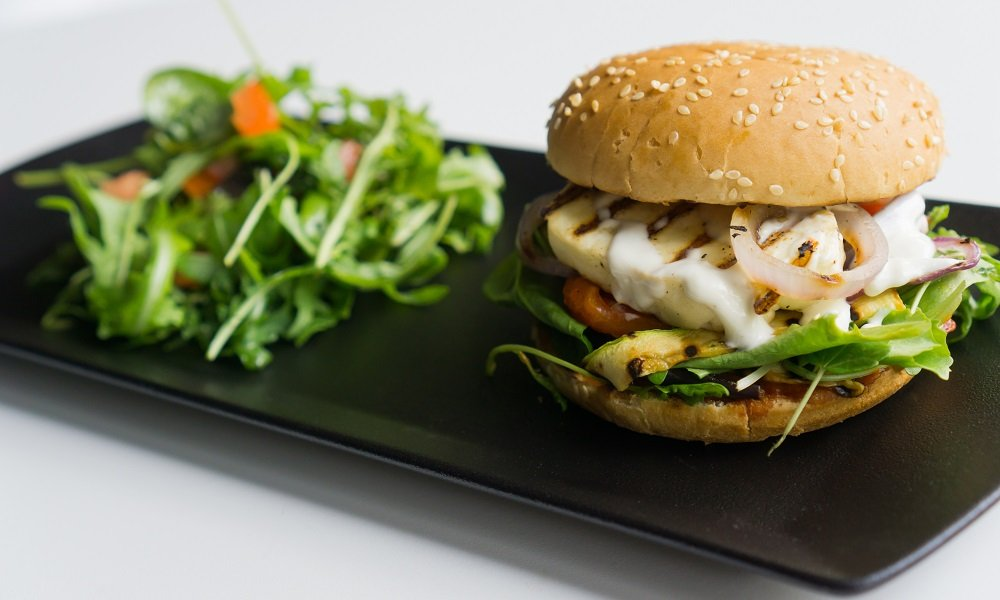 Grilled Vegetable and Halloumi Burger
