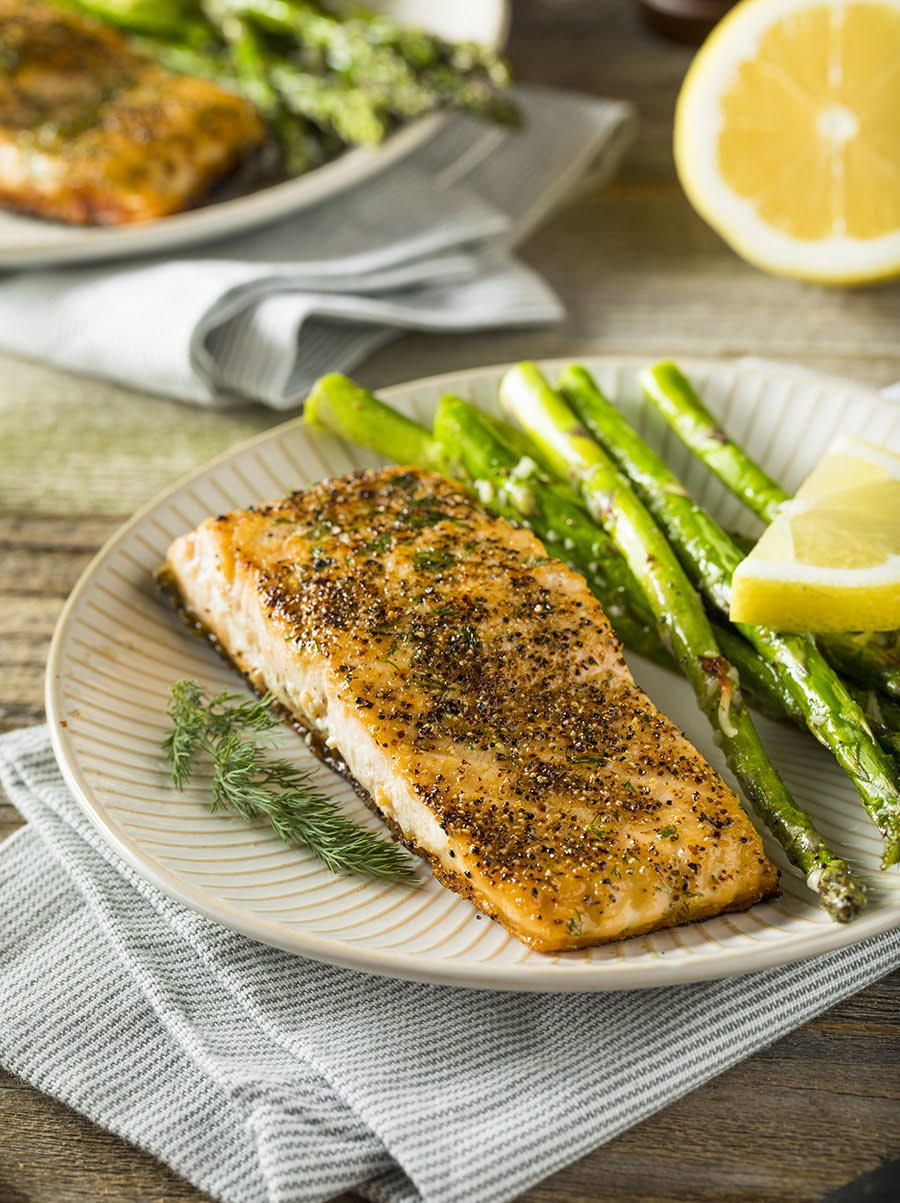 One Pan Keto Salmon + Asparagus