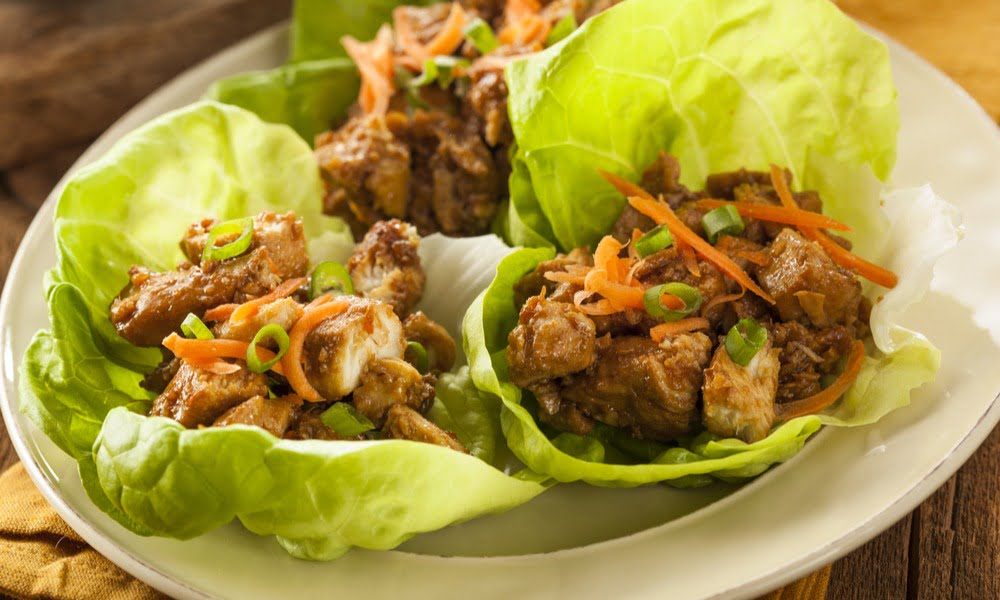 EASY WEEKNIGHT DINNER IDEA: LETTUCE WRAPS WITH ALMOND BUTTER SAUCE