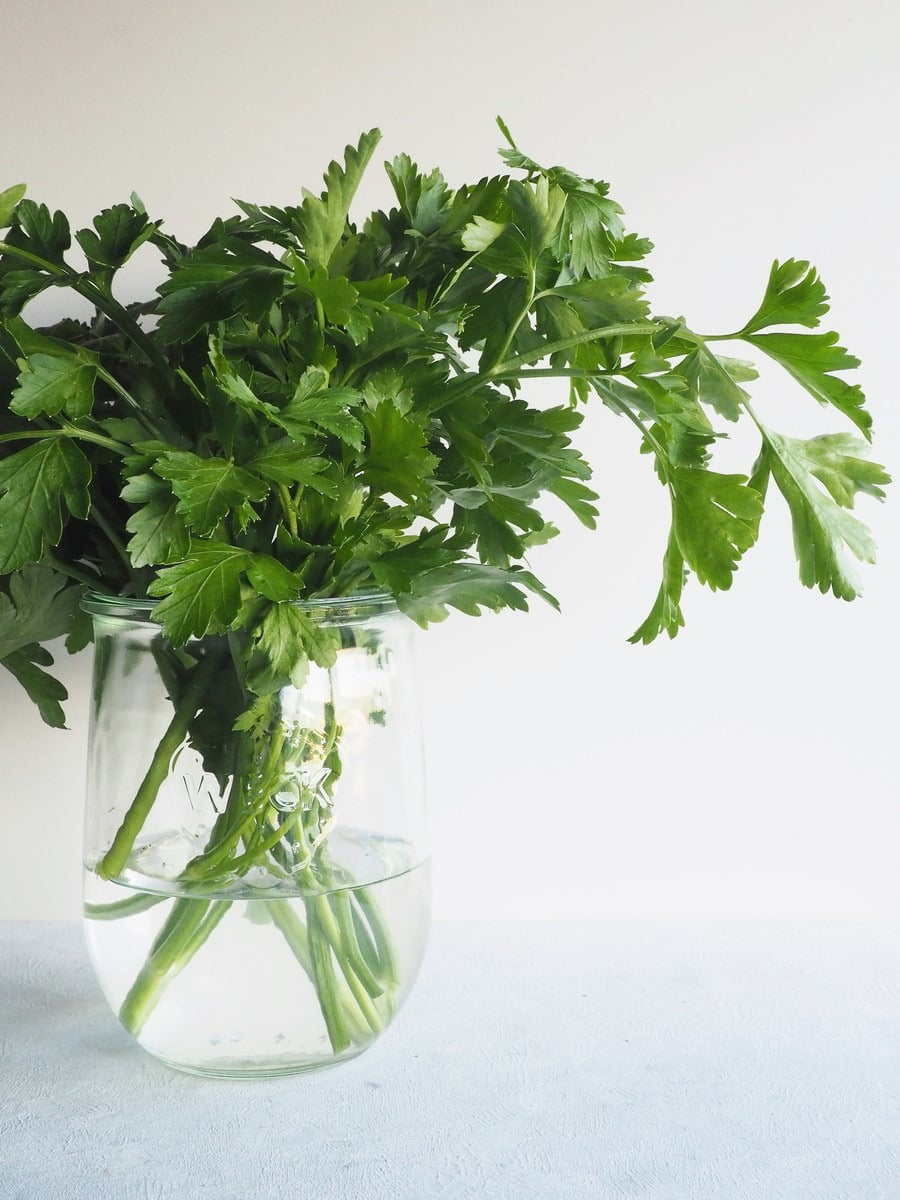 jar of parsley