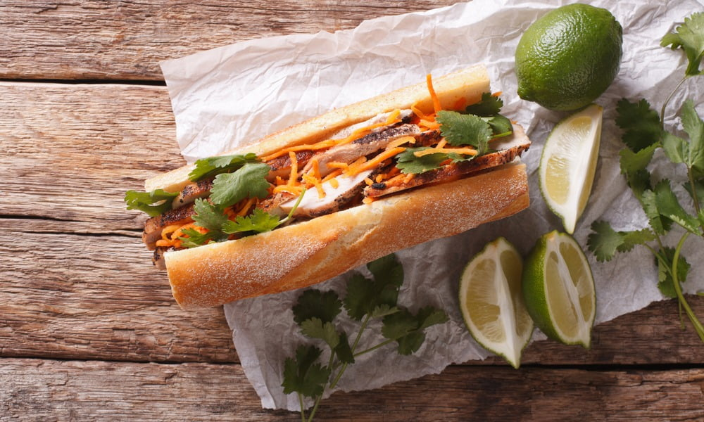New Turkey Leftovers Banh Mi Sandwich