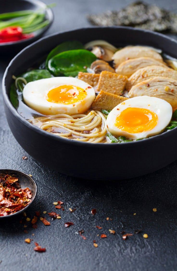 ramen in a bowl