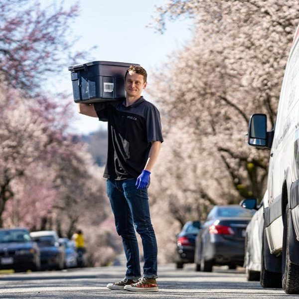 Vsevolod Bystritskiy is a logistics manager for SPUD.ca and also delivers groceries to peoples homes in Vancouver, B.C.(Photograph by Jimmy Jeong)