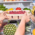 in the fridge produce food storage