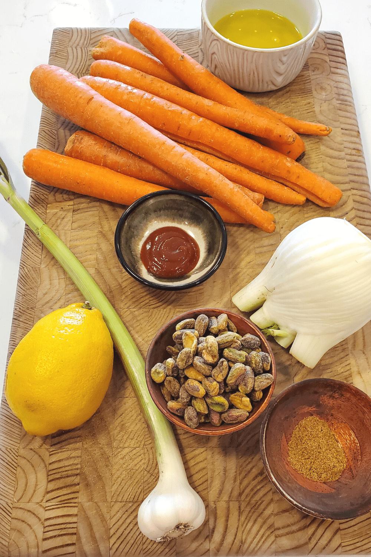 green spring garlic ingredients