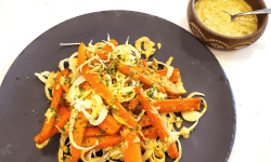 Roasted Carrots Green Garlic Pesto