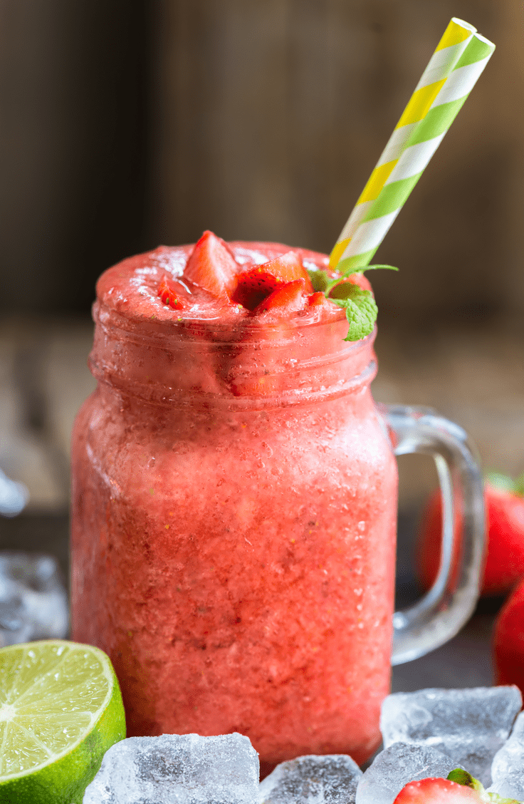 strawberry lime collagen slushy