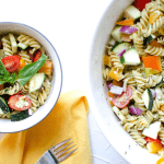 summertime pesto pasta salad