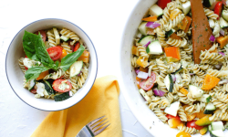 Summertime Pesto Pasta Salad