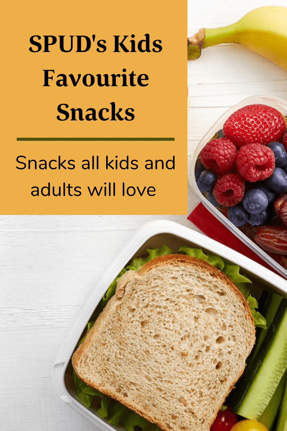 SPUD's Kids Favourite Snacks