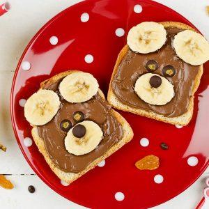 Bear Toasts-kids Snacks