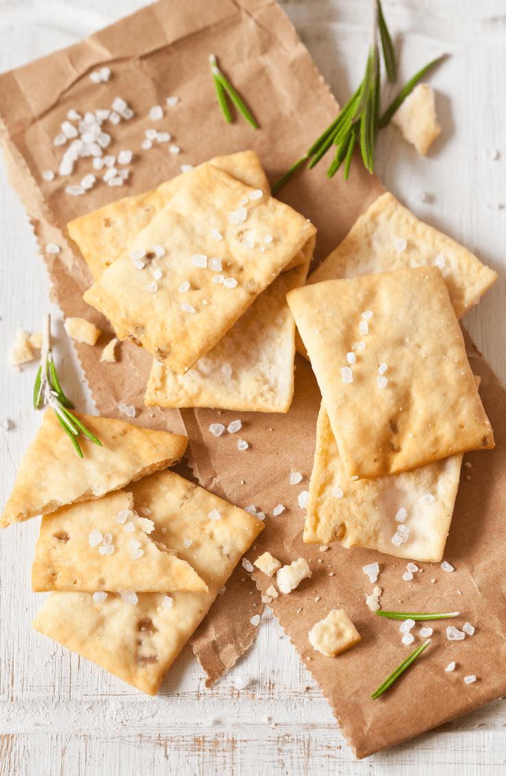 sour dough discard crackers