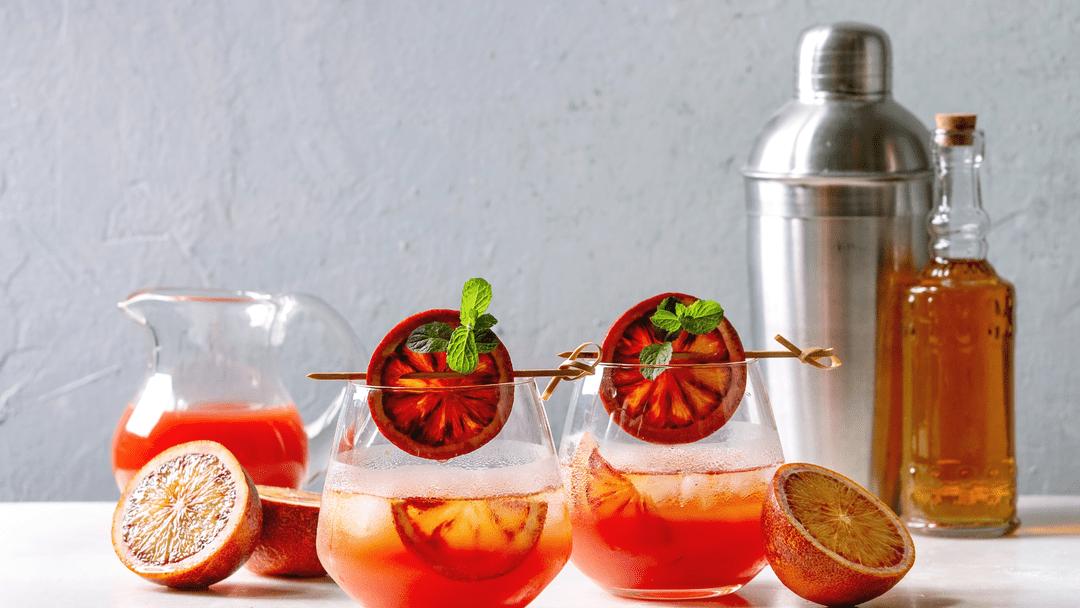 gin and tonic blood orange