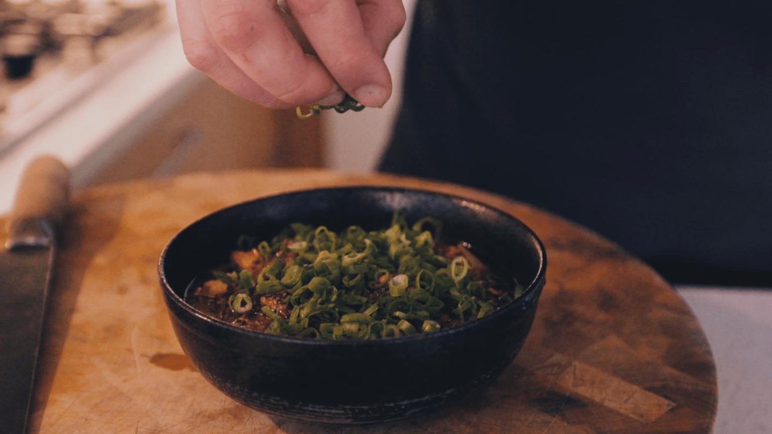Mapo Tofu dish made by Matthew Murtagh-Wu of the Dumpling King